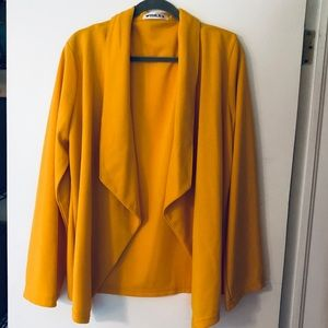 NWOT         Sunshine Yellow Doublju Drape Jacket